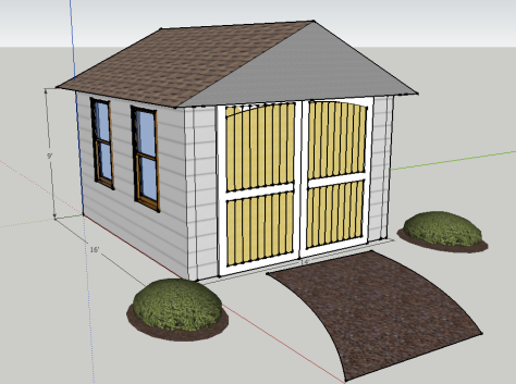 Sketchup outbuilding image